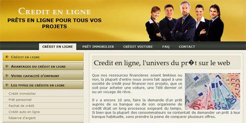 Des crédits en ligne