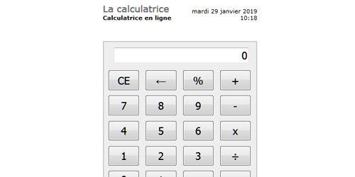 La calculatrice en ligne à la souris