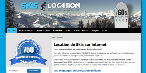 Du matériel de ski à louer en ligne